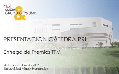 4 de noviembre, Presentación de  la Cátedra Grupo OTP & UMH